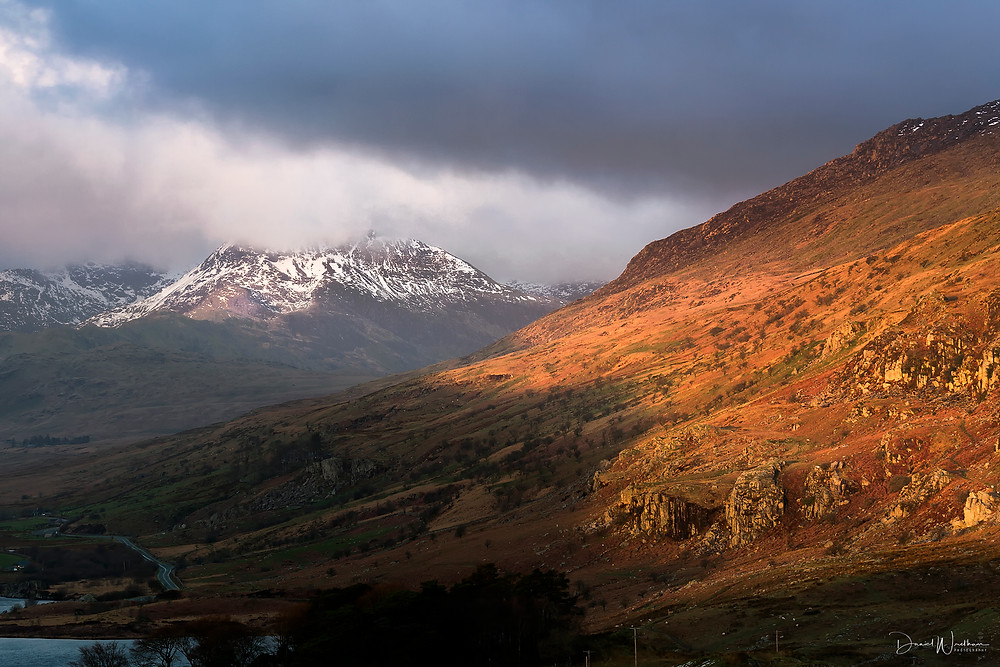 snowdonia, landscape photography, light, mountain, daniel wretham, snow, sunrise, sunset, snowdonia sunrise, snowdonia sunset
