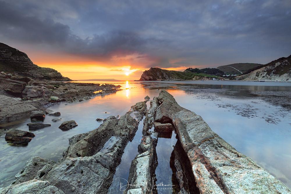 Amazing Sunset, Lulworth Cove, Dorset Sunset, Landscape photography