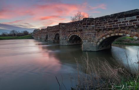 Sunset at White Mill Bridge