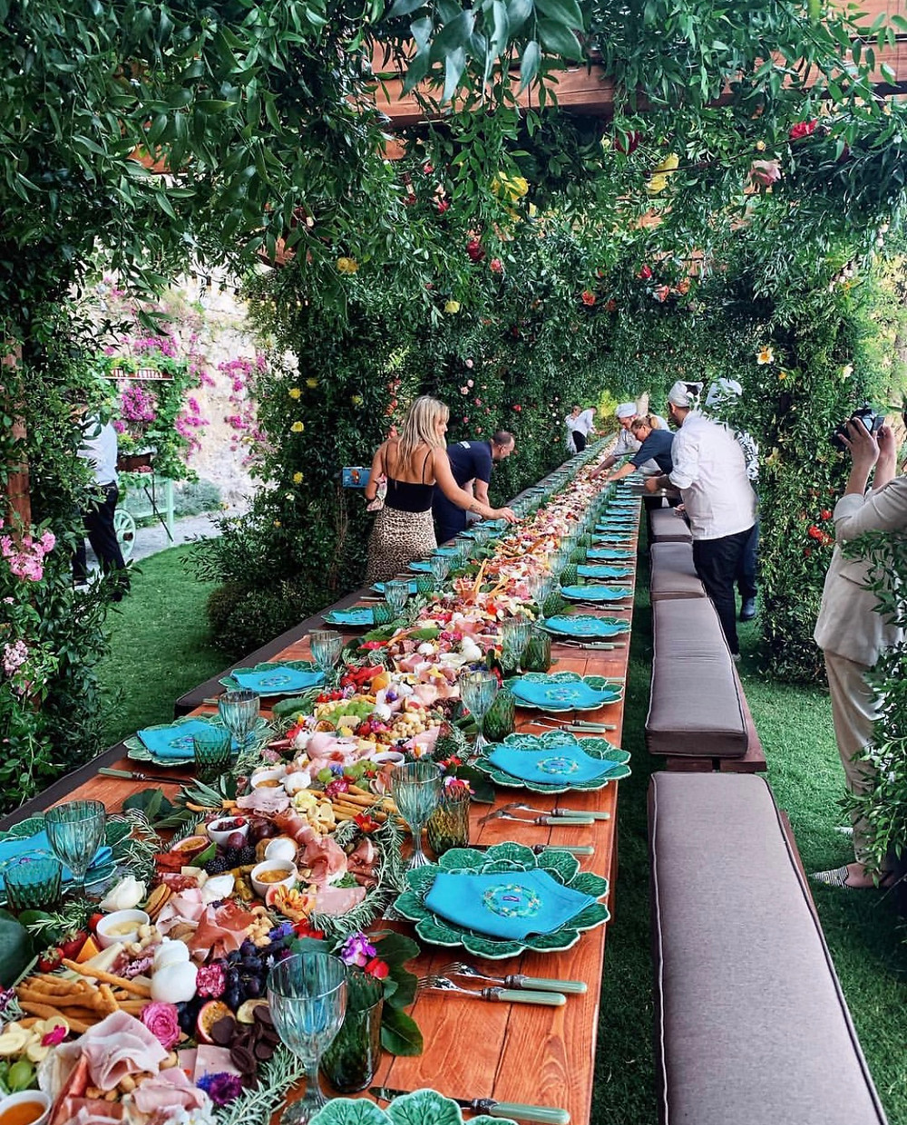 Epic Long Grazing Table Wedding Capri Italy