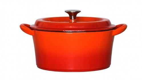 グッドプラス キャストポット18㎝オレンジ(鉄鋳物ホーロー鍋)