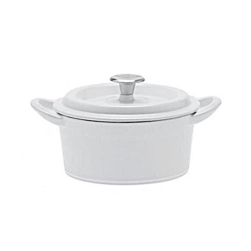 グッドプラス キャストポット18㎝ホワイト(鉄鋳物ホーロー鍋)