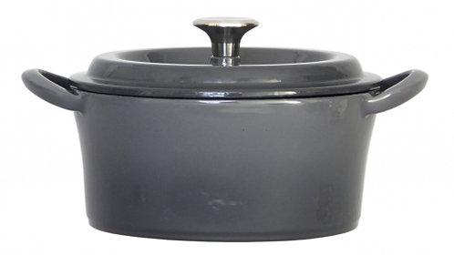 グッドプラス キャストポット18㎝グレー(鉄鋳物ホーロー鍋)