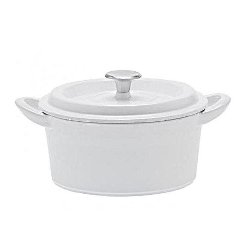 グッドプラス キャストポット20㎝ホワイト(鉄鋳物ホーロー鍋)