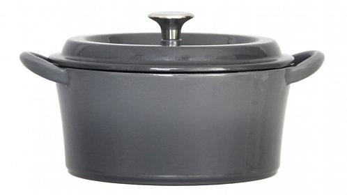 グッドプラス キャストポット20㎝グレー(鉄鋳物ホーロー鍋)