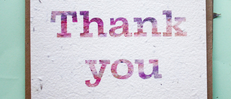 eccentric water colour thank you post cards