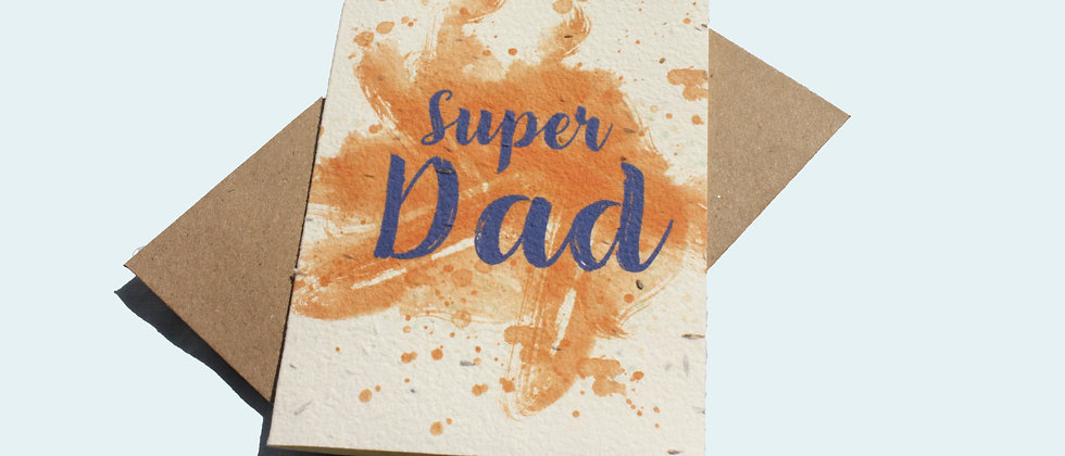 plant based plantable card with recycled kraft envelope