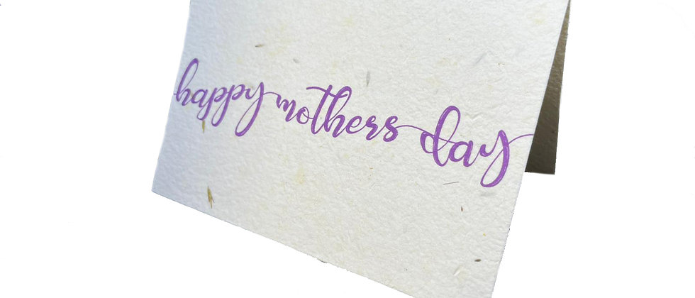 Green Planet Paper Greeting cards for mothers day