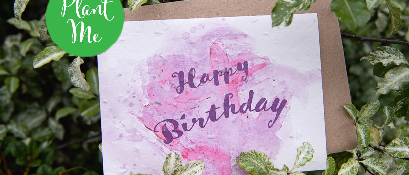 happy birthday greeting card celebration water colour cards for her