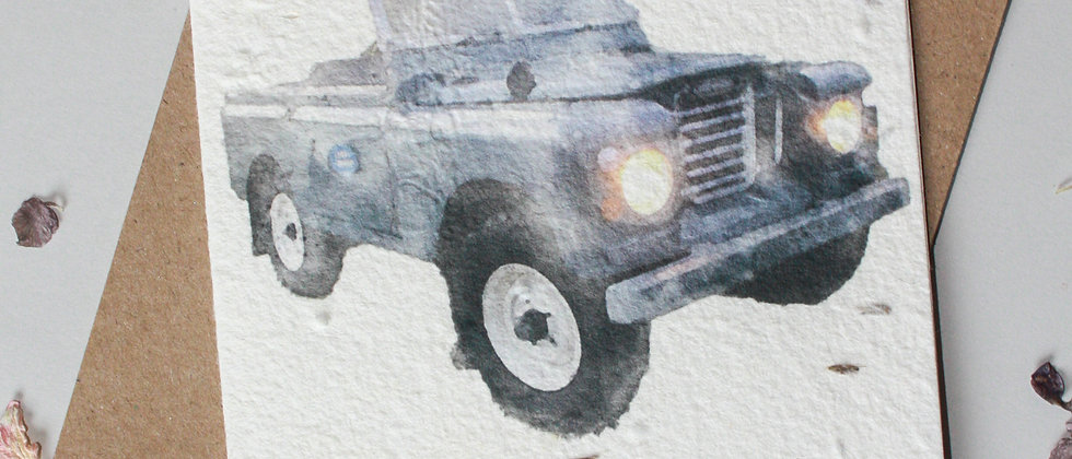 series 2a vintage 4x4 land rover greeting card