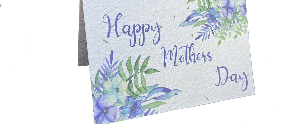 Zero waste mothers day greeting card