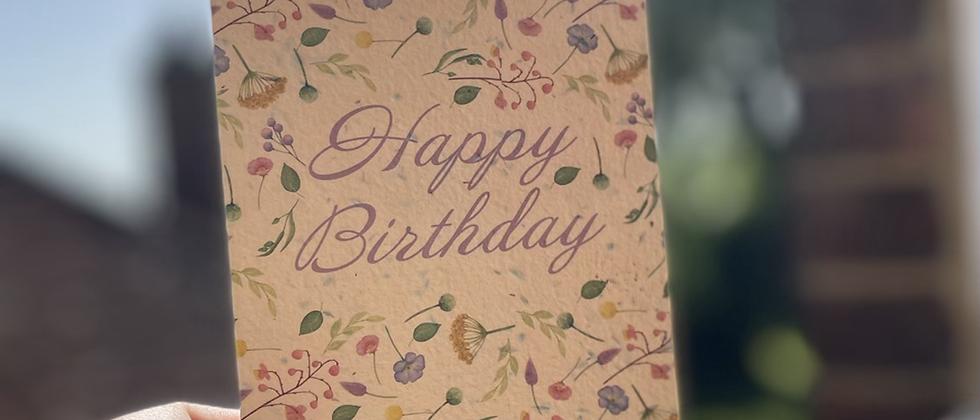 Eco friendly birthday card