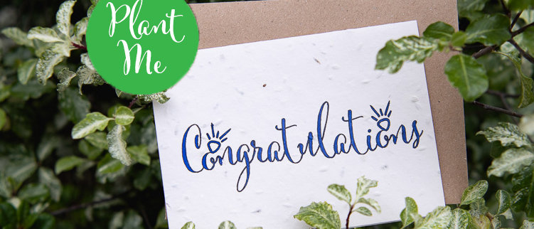 congratulations wedding engagement plantable cards