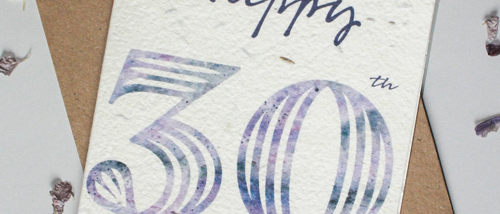 a plantable 30th birthday card