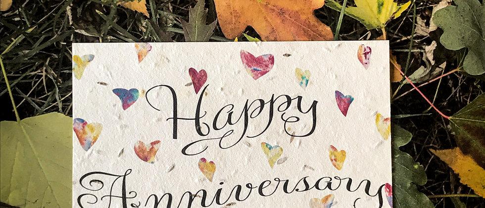 plantable wildflower seed wedding anniversary card