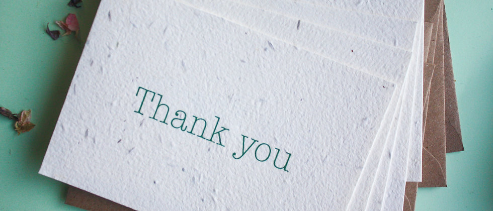 Wildflower seed plantable thank you cards