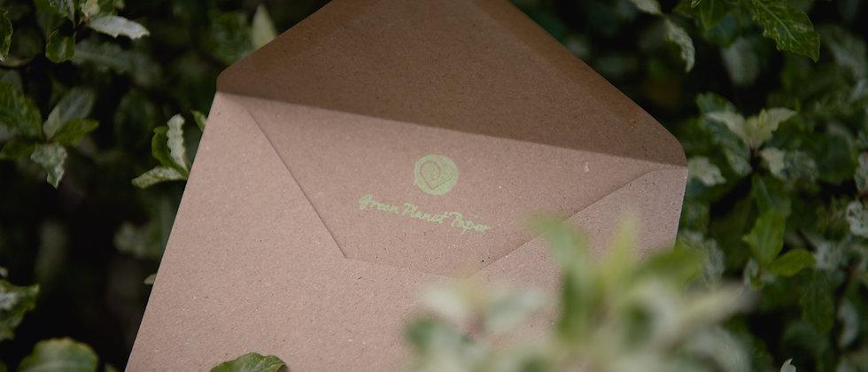 Recycled C6 natural kraft envelope
