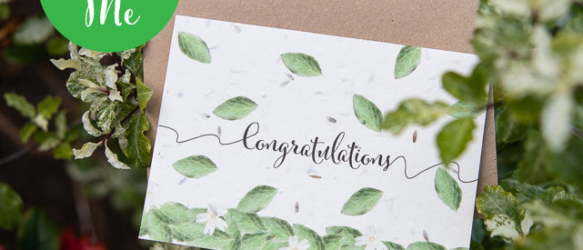 congratulations gardening plantable greeting cards