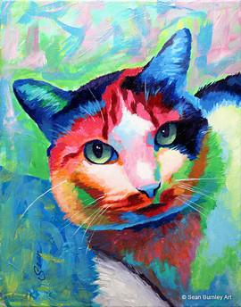 Acrylic Jelly Bean the cat