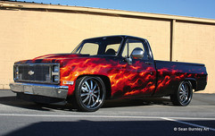 Flaming Chevy