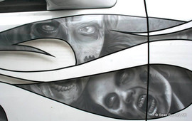 Zombie Truck Detail Walking Dead