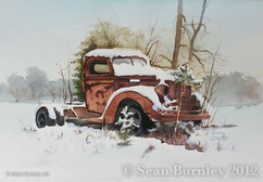 Rusty Truck in the Snow