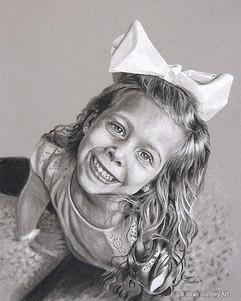 Charcoal art of Elise