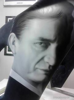 Cash'd Out Johnny Cash Portrait 2