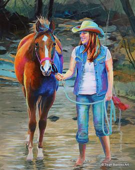 Acrylic art of Kimberly