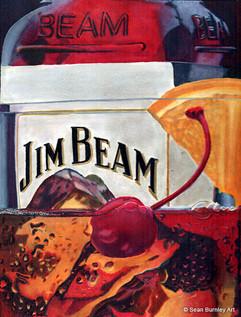 Jim Beam in Marker