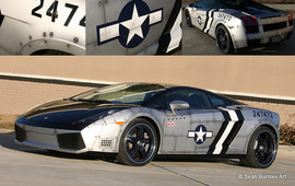 Chris Brown's P-51 Inspired Lambo