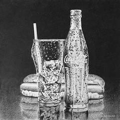 Cold Coke & a hot dog