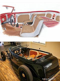 1936 Ford Phaeton Interior Concept