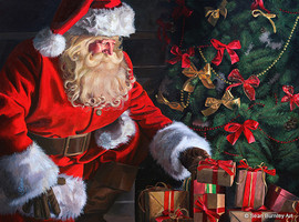 Santa Claus in Acrylic