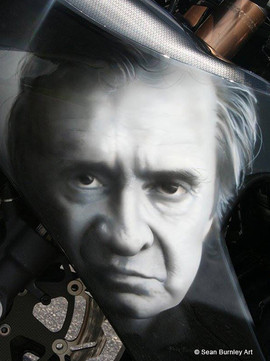 Cash'd Out Johnny Cash Portrait