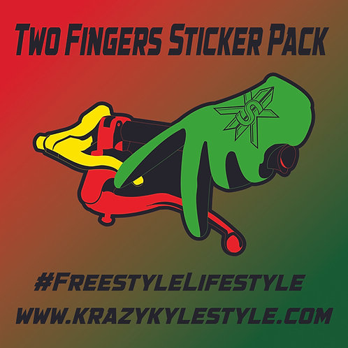 Two Fingers Sticker Pack