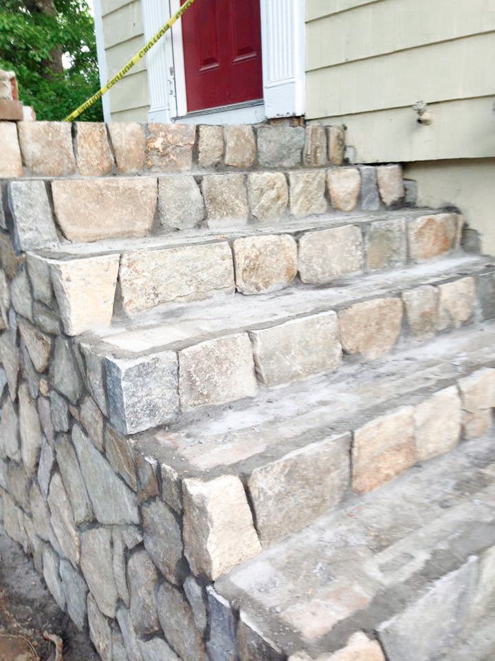 Stone steps hardscaping