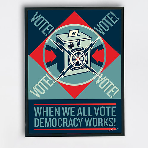 SHEPARD FAIREY (OBEY), When we all vote