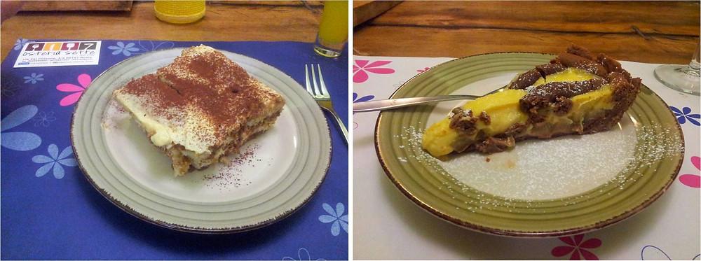 עוגת קרם פטיסייר ושוקולד מצוינת, טירמיסו מצוין לא פחות