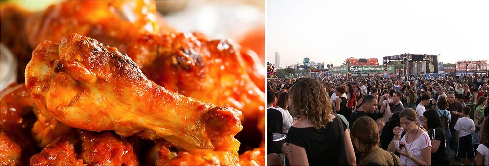 טעם העיר (לא ב-2003 - שימו לב שאף אחד לא מצלם את האוכל), כנפיים (לא מהדוכן)
