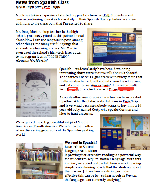 Promoting Your Program - The School Newsletter