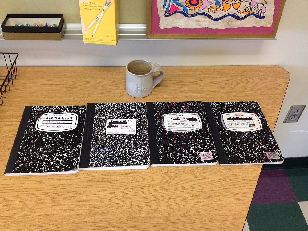 composition notebooks for each class