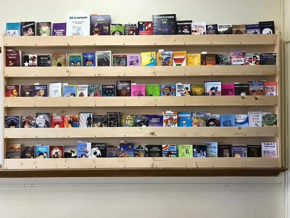 my new bookshelf up close