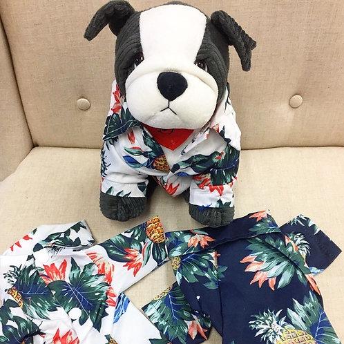 Paradise Hawaiian Print Dog Aloha Shirt