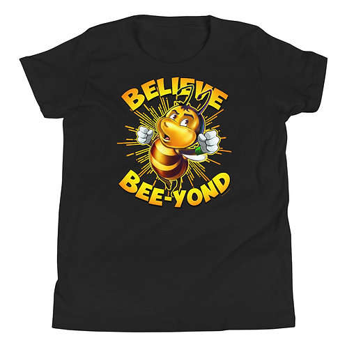 JAYCE THE BEE: Believe Bee-yond Youth Short Sleeve T-Shirt
