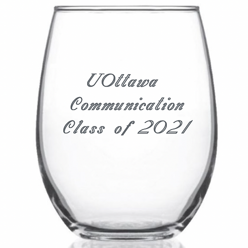 Stemless Wine Glass   Verre de vin sans tige