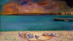 09-40x70 cm İstanbul ve Kuşlar