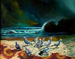 05-40x50 cm Gece ve Kuşlar
