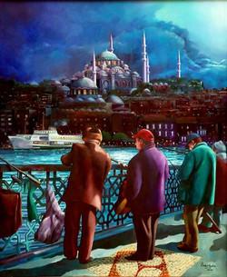 21-60x50 cm Balıkçılar ve Süleymaniye