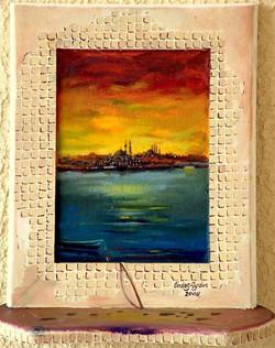 07-22x16 cm Günbatımı ve İstanbul